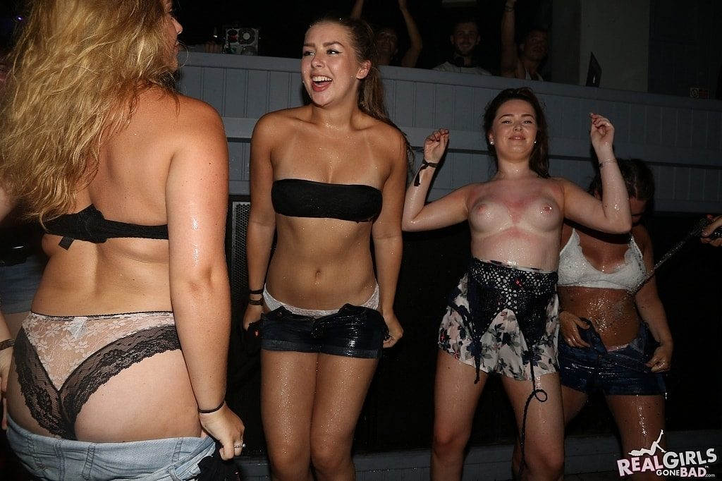 Real girl embarrassed about pulling down her shorts